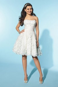 Свадебное платье Alfred Angelo Little White Dress 2155