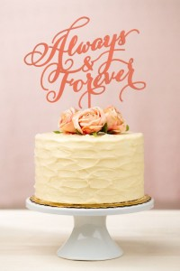 always-and-forever-wedding-cake-topper-in-coral